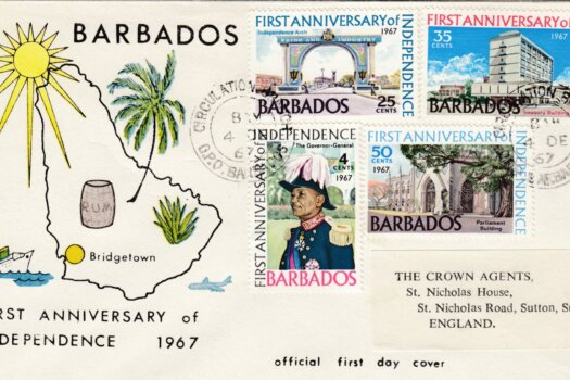 Barbados 1st Anniversary of Independence FDC 1967 - illustrated cover