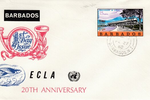 Barbados 20th Anniversary of the Economic Commission for Latin America FDC - illustrated cover