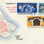 Barbados Girl Guide Golden Jubilee FDC 1968 - illustrated cover