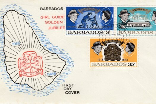 Barbados 1968 Girl Guide Golden Jubilee FDC - illustrated cover