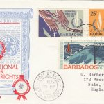 Barbados International Year for Human Rights FDC 1968 - illustrated cover