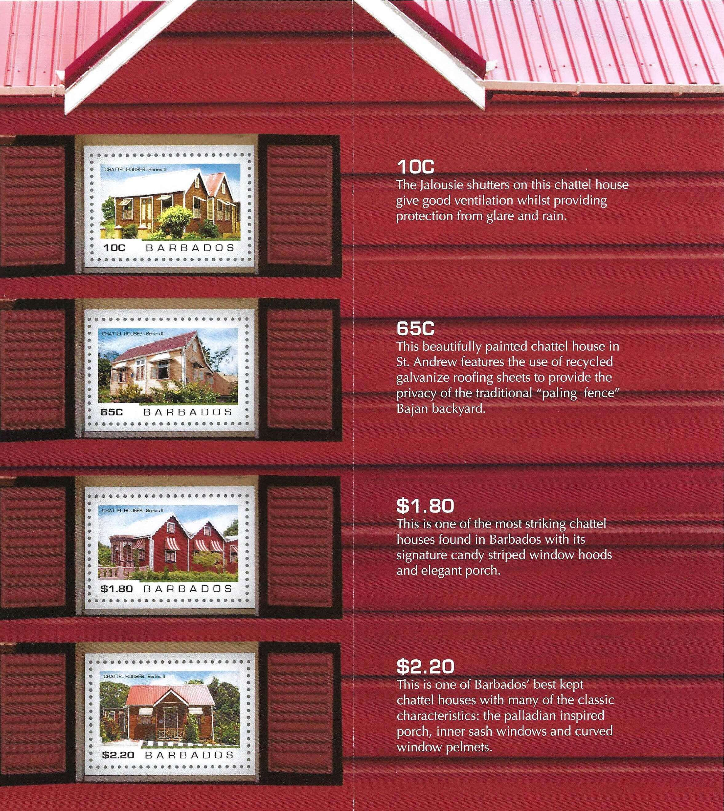 New Barbados stamp issue showcases more Chattel Houses