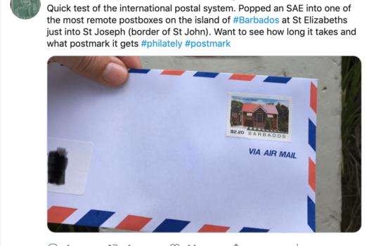 Barbados Stamps tweet August 2019