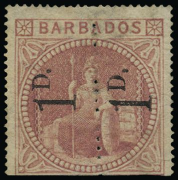Mint Barbados SG86b from Stanley Gibbons