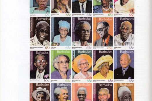 Time Magazine - The Science of Living Longer Barbados Centenarians Stamps