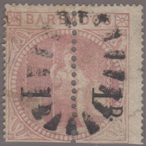 Is this rare Barbados stamp a dangerous forgery?
