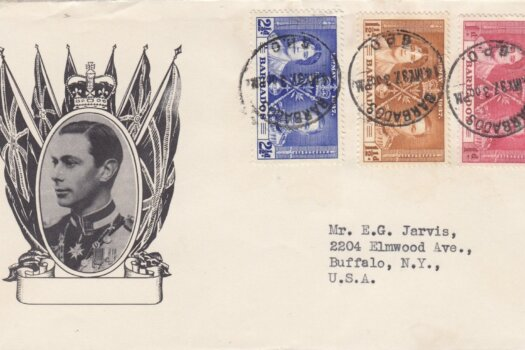 Coronation 1937 Barbados FDC on illustrated cover