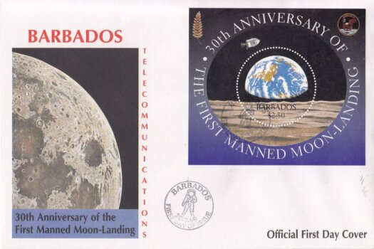 Barbados 1999 30th Anniversary of the First Manned Moon Landing FDC