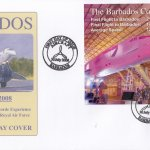 Barbados 2008 Concorde Experience & 90th Anniversary of the RAF Souvenir Sheet FDC