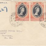 Barbados 1953 FDC Coronation of QEII on plain cover