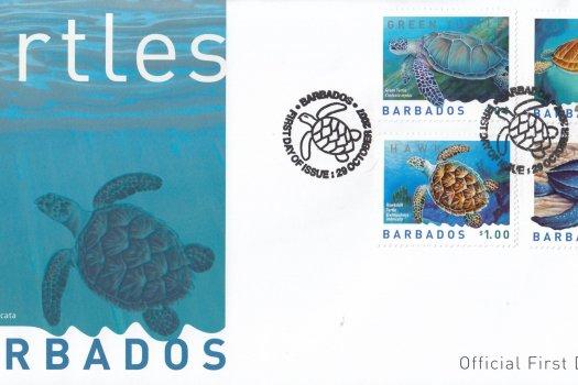 Barbados 2008 Turtles FDC