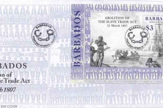 Barbados 2007 Abolition of the Slave Trade Act Souvenir Sheet FDC