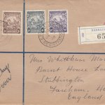 Barbados 1938 definitives ½d, 3d, 4d & 6d on plain FDC