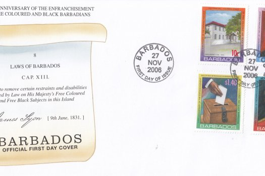 Barbados 2006 175th Anniversary of the Enfranchisement of Free Coloured and Black Barbadians FDC