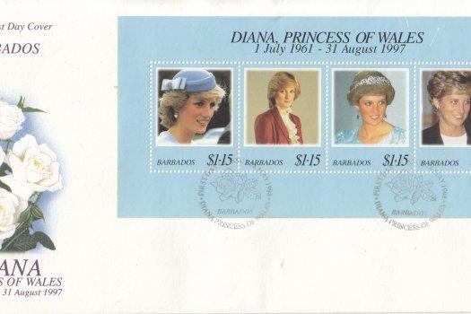 Barbados 1997 Diana Princess of Wales FDC