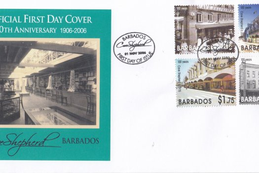 Barbados 2006 100th Anniversary of Cave Shepherd FDC