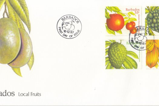 Barbados 1997 Local Fruits FDC