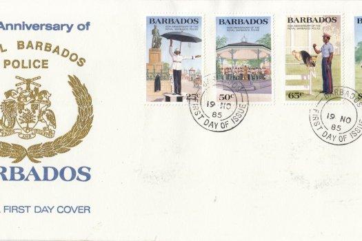 Barbados 1985 150th Anniversary of the Royal Barbados Police FDC November 1985