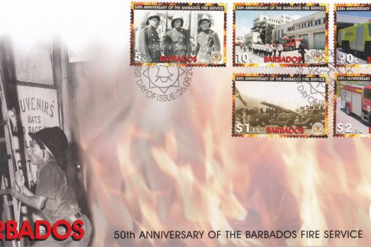 Barbados 2005 50th Anniversary of the Barbados Fire Service FDC