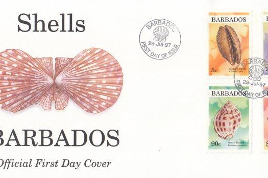 Barbados 1997 Shells FDC