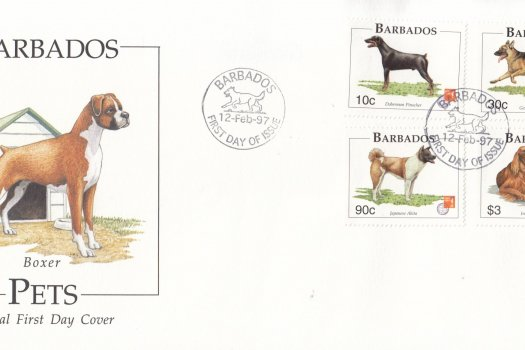 Barbados 1997 Pets (Dogs) FDC