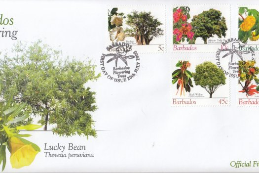 Barbados 2005 Barbados Flowering Trees FDC (3)