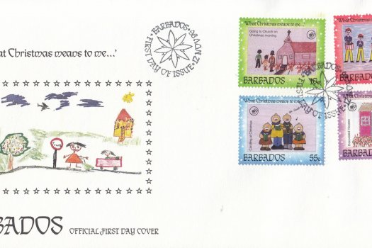 Barbados 1996 Christmas FDC