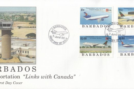 Barbados 1996 Transportation Links with Canada FDC