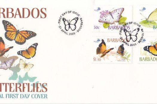 Barbados 2005 Barbados Butterflies FDC