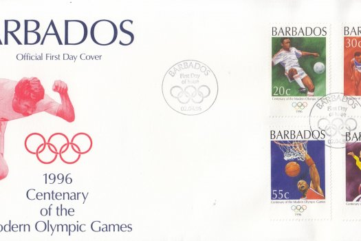 Barbados 1996 Centenary of the Modern Olympic Games FDC