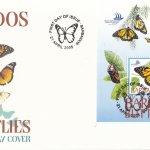 Barbados 2005 Barbados Butterflies Souvenir Sheet FDC