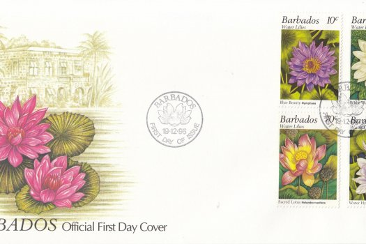 Barbados 1996 Water Lillies FDC