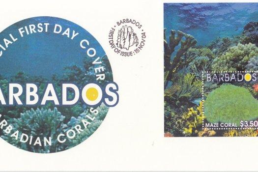 Barbados 2004 Barbadian Corals Souvenir Sheet FDC