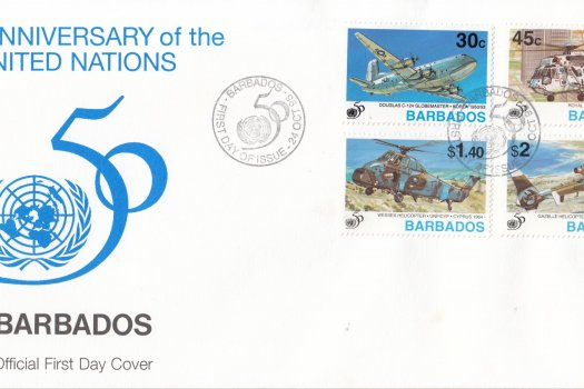 Barbados 1995 50th Anniversary of the United Nations FDC