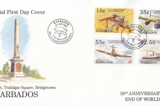 Barbados 1995 50th Anniversary of the end of World War II FDC
