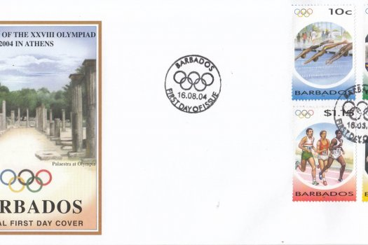 Barbados 2004 The Games of the XXVIII Olympiad 2004 in Athens FDC