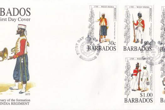 Barbados 1995 200th Anniversary of the formation of the West India Regiment FDC