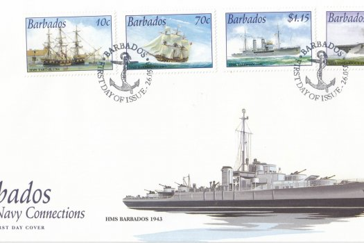Barbados 2003 Royal Navy Connections FDC