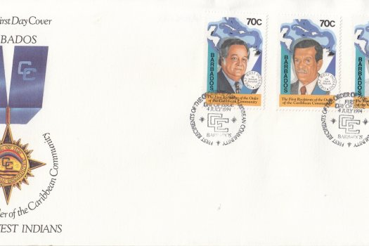 Barbados 1994 The First Recipients of the Order of the Caribbean Community FDC