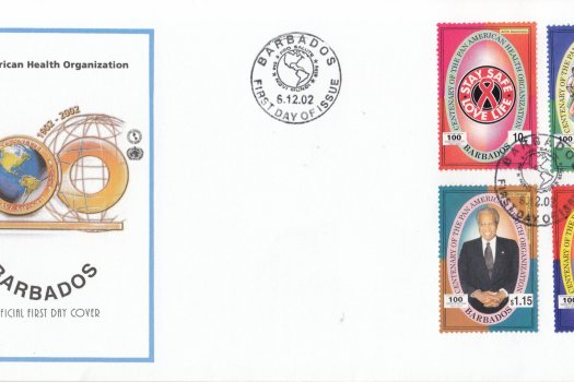 Barbados 2002 Centenary of the Pan American Health Organisation FDC