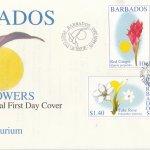 Barbados 2002 Flowers FDC