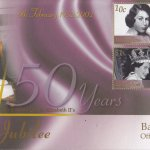 Barbados 2002 QEII Golden Jubilee FDC