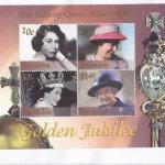 Barbados 2002 QEII Golden Jubilee Souvenir Sheet FDC