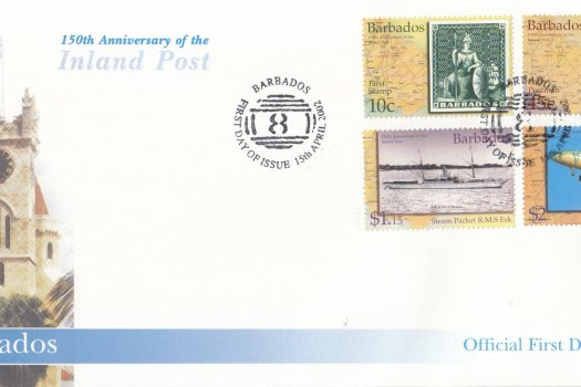 Barbados 2002 150th Anniversary of the Inland Post FDC