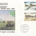 Barbados 1993 75th Anniversary of the Royal Air Force FDC