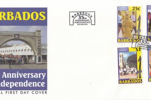 Barbados 2001 35th Anniversary of Independence FDC