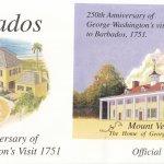 Barbados 2001 250th Anniversary of George Washington's visit to Barbados Souvenir Sheet FDC