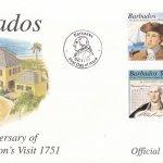 Barbados 2001 250th Anniversary of George Washington's visit to Barbados FDC