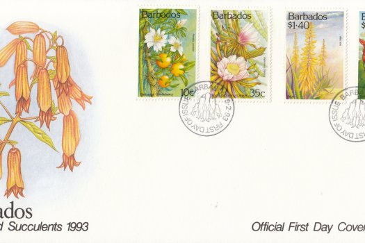 Barbados 1993 Cacti and Succulents FDC