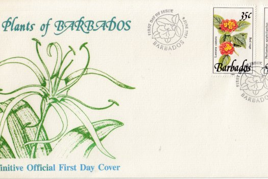 Barbados 1992 Wild Plants of Barbados FDC